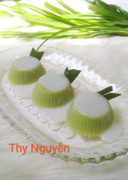 Thạch đậu nành Lá dứa cốt dừa