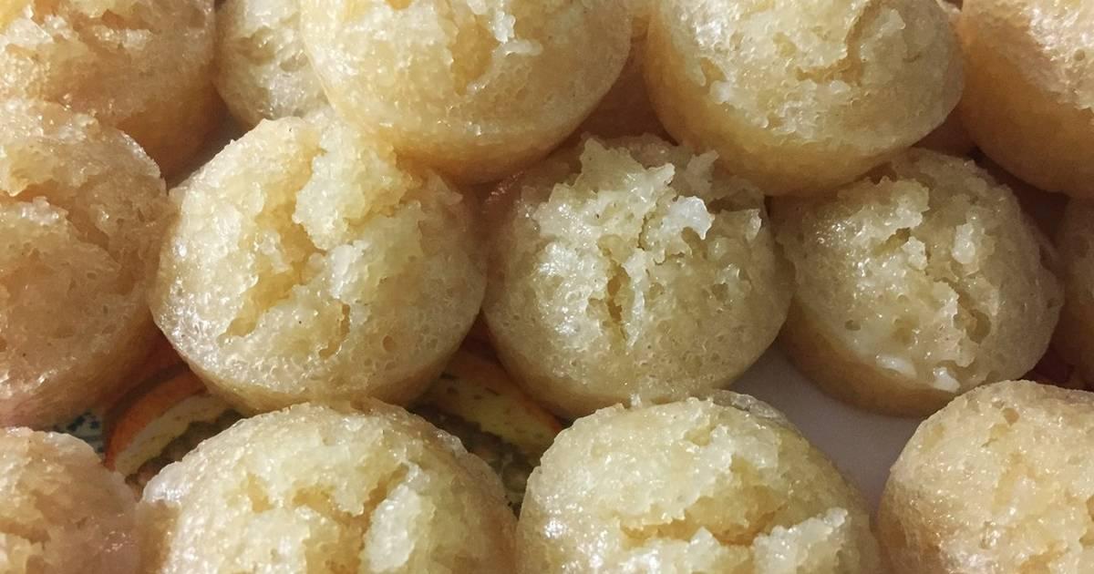 Bánh bò đường thốt nốt cốt dừa hấp