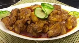 Hình ảnh món Sườn sụn om cốt dừa
