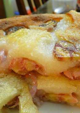 Baked banana tapioca cake - bánh chuối khoai mì nướng