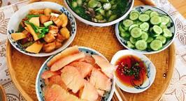 Hình ảnh món Thịt heo kho măng nước dừa.  Khổ qua rừng nấu canh thác lác (lát)