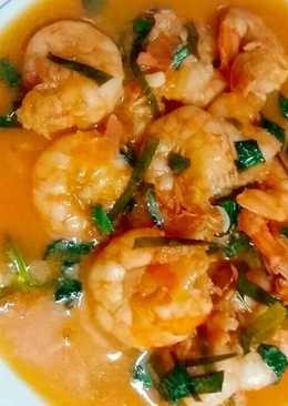 Tôm sốt chanh chua ngọt kiểu Thái