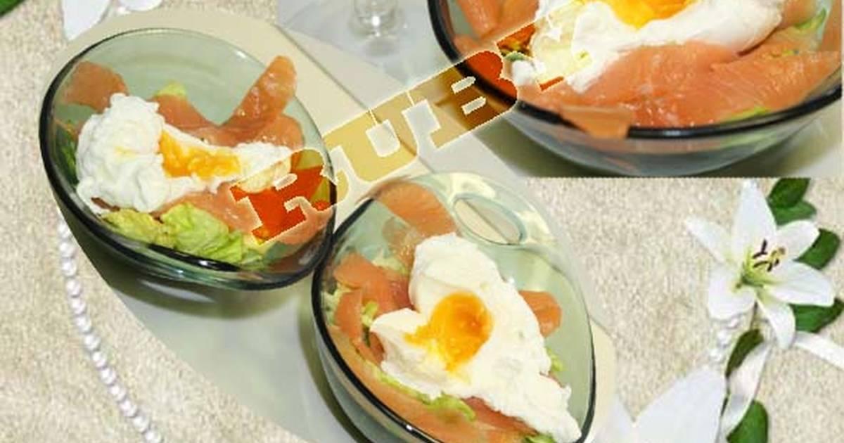 Salade Cá Hồi Xông Khói - Trứng (Món khai vị)