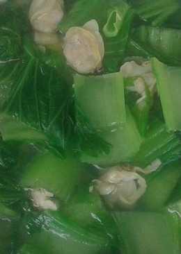 Canh Nghêu nấu cải bẹ xanh