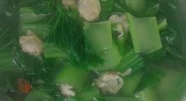 Hình ảnh món Canh Nghêu nấu cải bẹ xanh