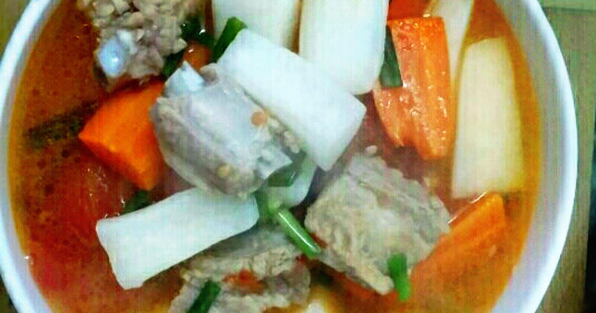 Canh củ cải nấu sườn