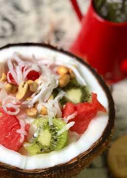 Kem Trái Dừa Hoa Quả😍💁