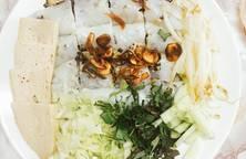 Bánh cuốn tôm thịt (làm bánh bằng chảo chống dính)