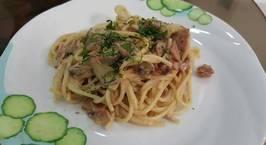 Hình ảnh món Spaghetti sốt kem với ham và nấm