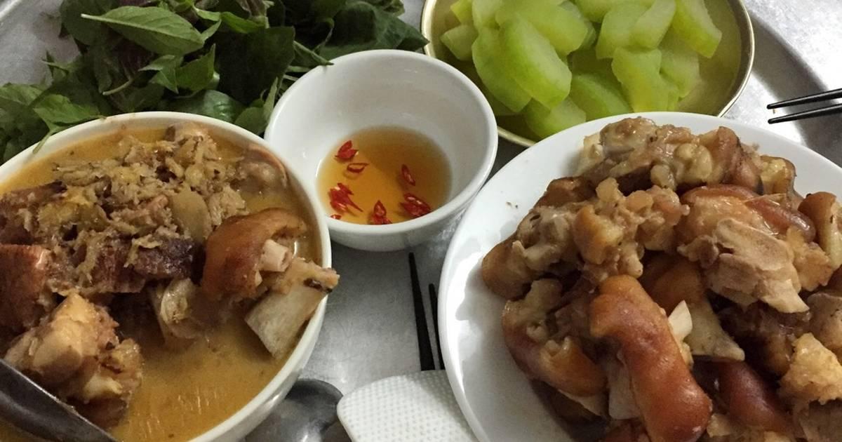 Móng giò nấu giả cầy