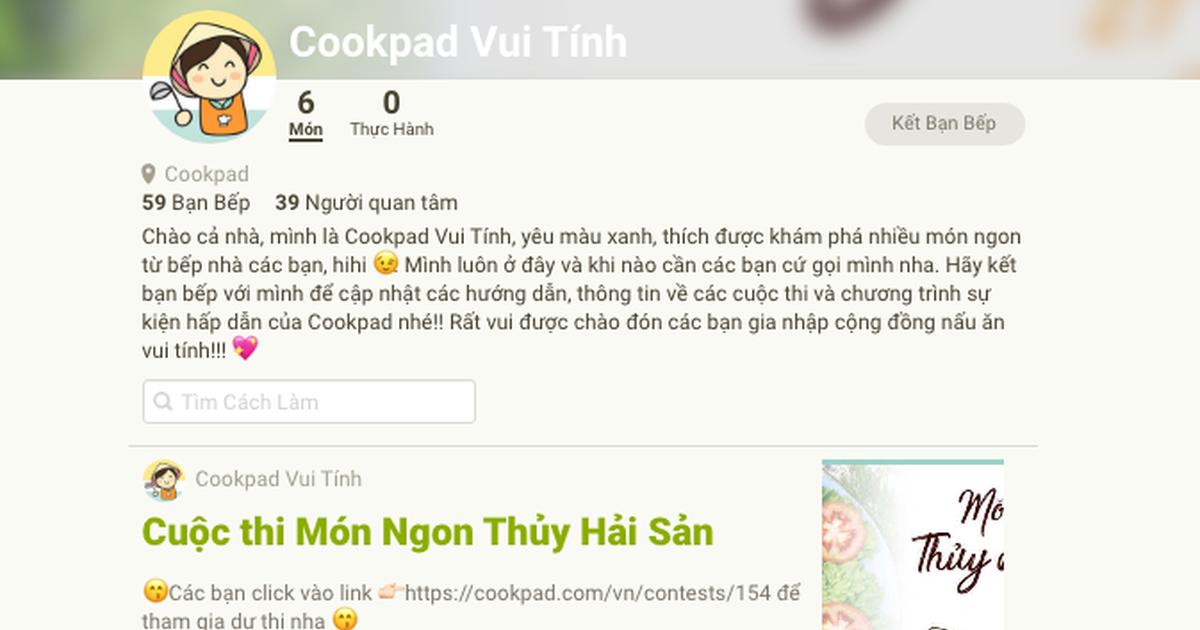 Có bao nhiêu cách để giao lưu kết bạn trên Cookpad?