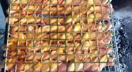 Hình ảnh món Thịt ba chỉ cuốn măng tây - nướng than hoa