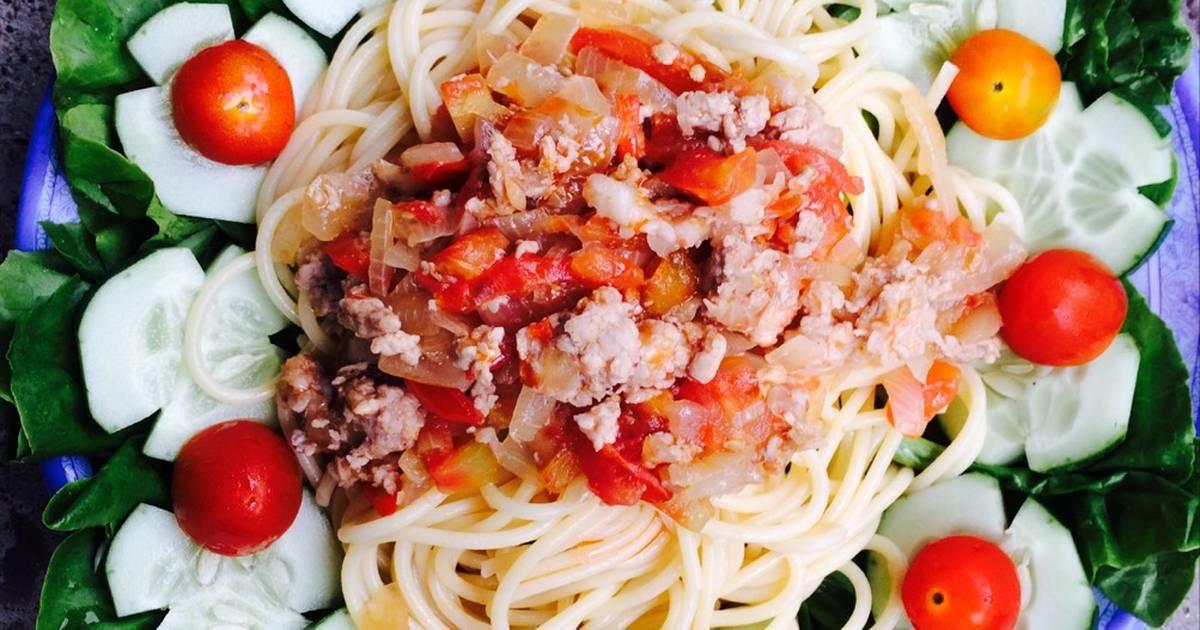 Mỳ spaghetti đãi gia đình cho buổi tối sum vầy!