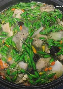 Gà Nấu Ớt Xiêm Xanh(Lẩu Gà Ớt Hiểm)