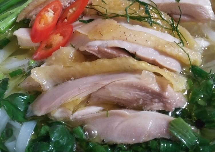 Kết quả hình ảnh cho cách nấu món phở gà hà nội