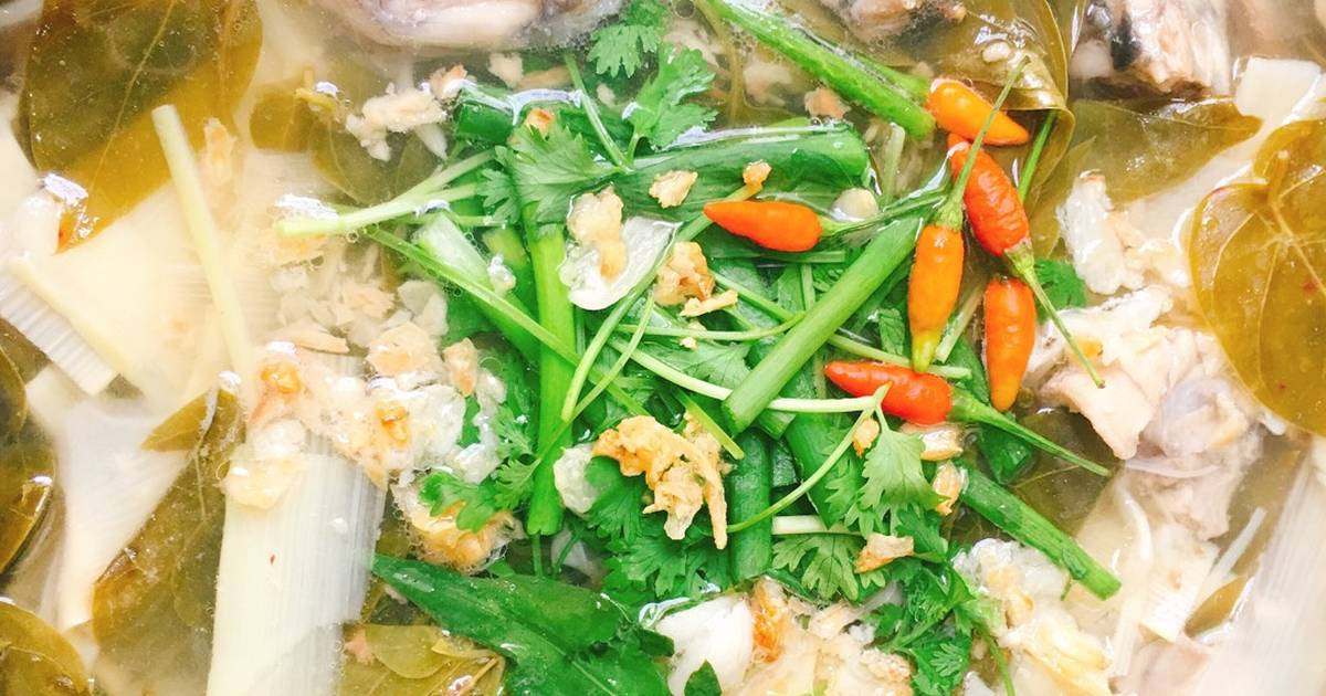 Ếch Nấu Măng Lá Giang