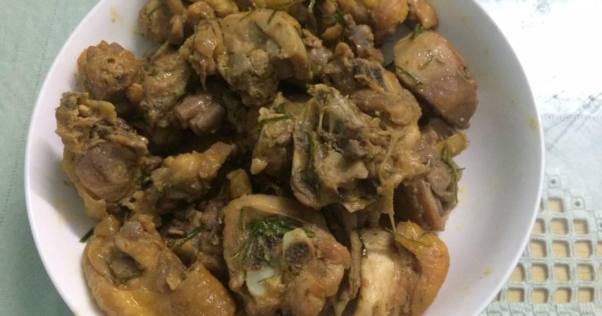 Thịt gà rang cách điệu