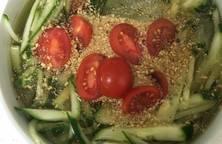 Canh dưa chuột lạnh (오이냉채)