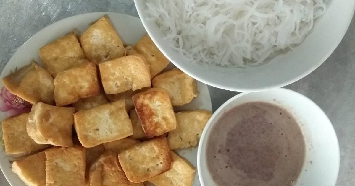 Bún đậu mắm tôm đơn giản cho bữa sáng ?