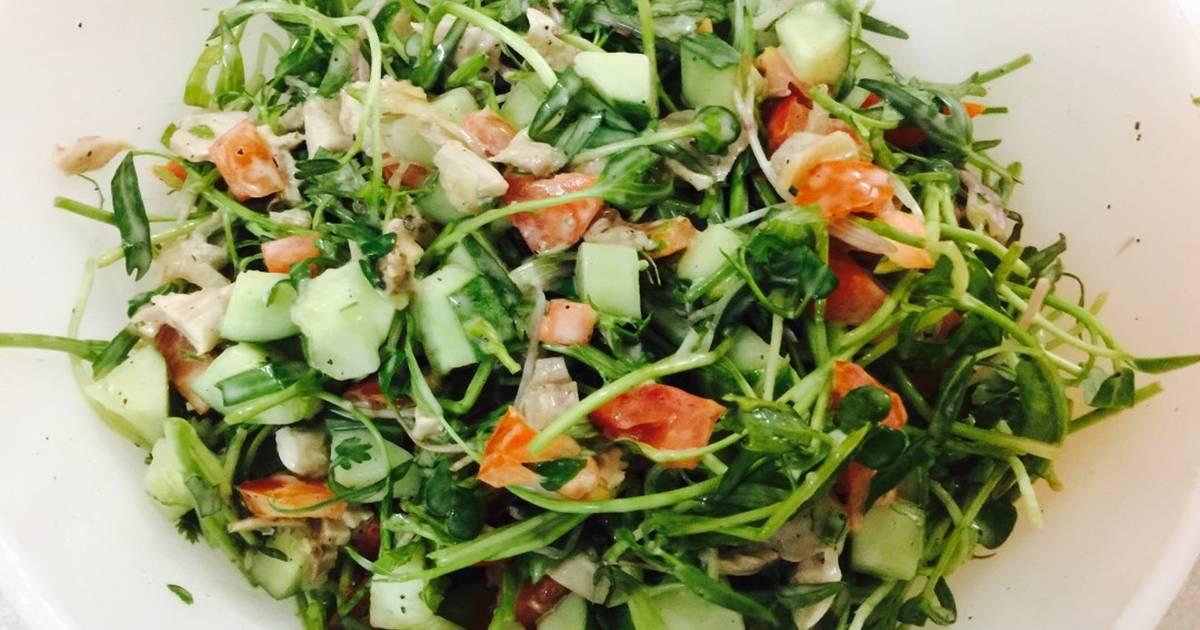 Salad gà rau quả