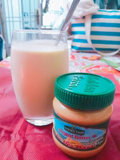 Sinh tố chuối bơ đậu phộng