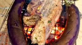 Hình ảnh món Thịt ba rọi nướng - cà tím nướng mỡ hành