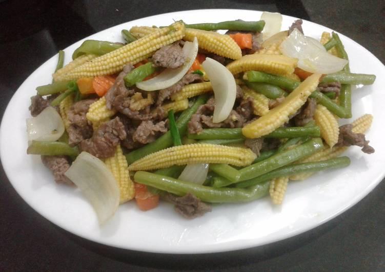 Thịt bò xào tổng hợp rau củ hình đại diện món