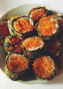 Cơm cuộn rong biển chiên rắt phô mai 😁