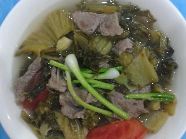 Canh dưa cải thịt bò