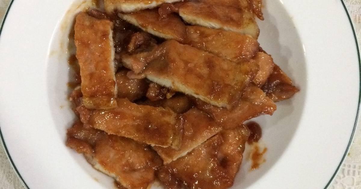 Thịt cốt lết chiên sốt ướp đồ nướng Lee Kum Tee