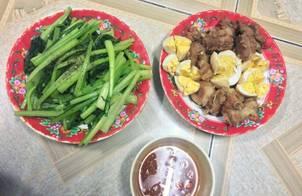 Thịt kho hột vịt (Biến tấu thịt là sườn non nhé)