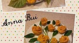 Hình ảnh món Bánh khoai lang hấp hoa hồng chay !   ( Đẹp lung linh)
