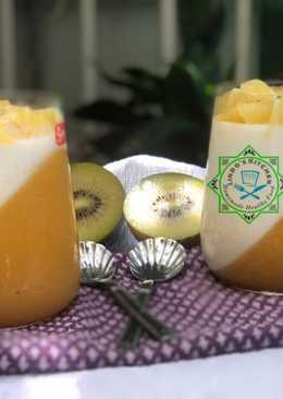 Panna cotta thơm ngon, mát bổ từ kiwi và chanh leo!