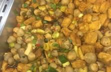 Món chay: đậu hủ kho nấm
