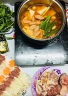 Lẩu Kimchi ngày mưa