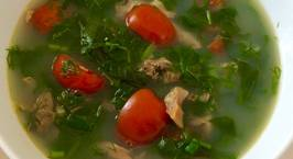 Hình ảnh món Canh trai nấu lá lốt xương xông
