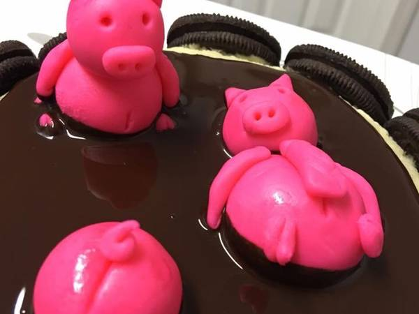 Bánh bông lan nhà Heo đi tắm :)
