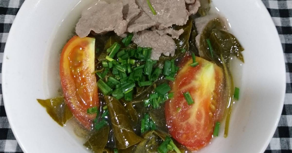 Canh thịt bò nấu lá giang