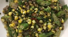 Hình ảnh món Ngô ngọt mĩ đậu bắp xào thịt bò bằm