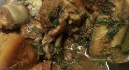 Hình ảnh món Móng giò heo nấu giả cầy chuối xanh
