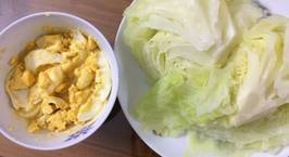 Hình ảnh món Bắp cải luộc chấm nước mắm trứng dằm