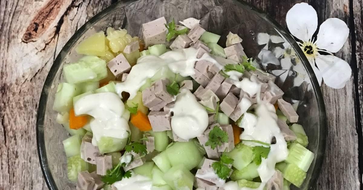 Salad rau củ cho mẹ bầu
