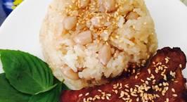 Hình ảnh món Sườn cây nướng, xôi đậu phộng với sữa đặc