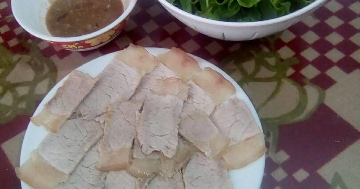 Thịt Luộc Chấm Mắm Nêm