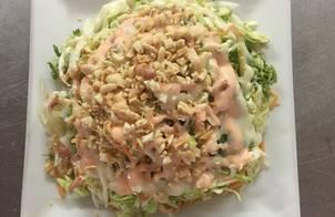 Salad rau trộn mật ong sữa ông thọ sốt mayonnaise nước cốt chanh