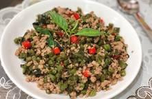 Hình ảnh Thịt Heo Xào Đậu Cô Ve Kiểu Thái-Thai Pork, Green Bean Stir Fry