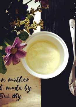 Flan phô mai sữa mẹ