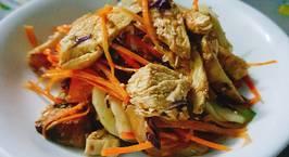 Hình ảnh món Salad ức gà sốt cam - eat clean