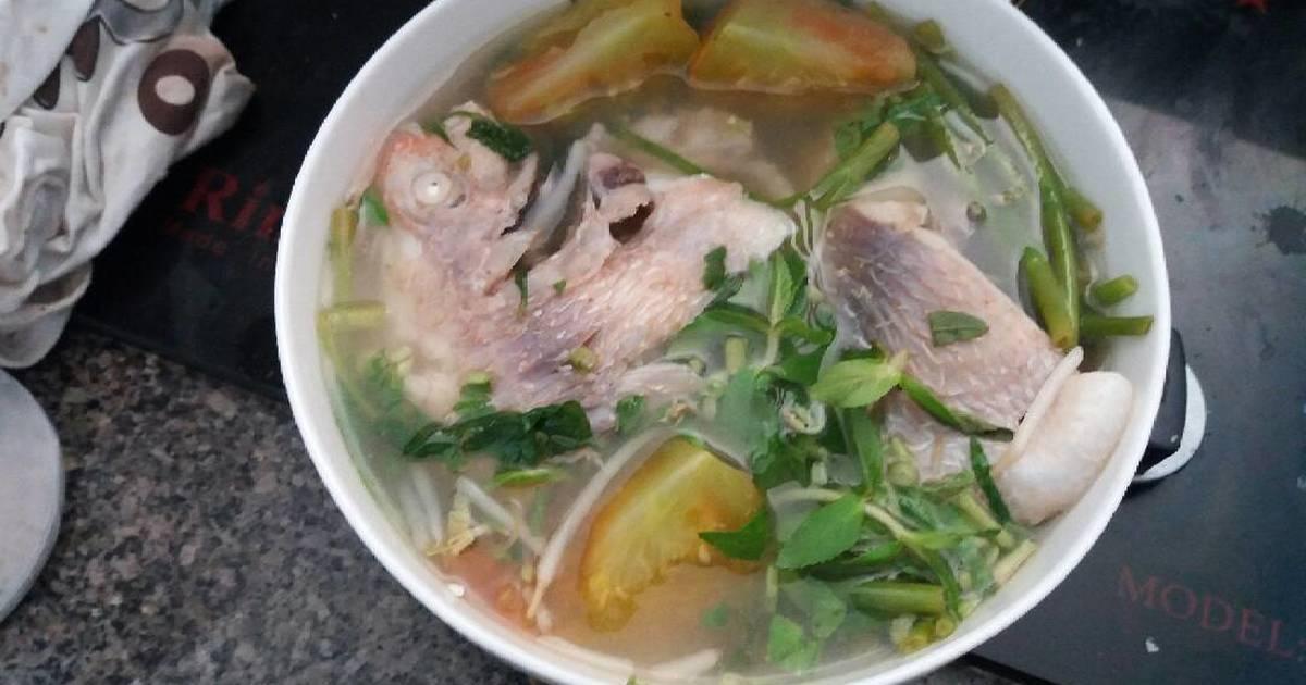 Cá diêu hồng nấu chua rau muống