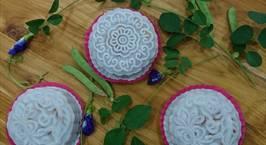 Hình ảnh món Bánh dẻo thập cẩm màu hoa đậu biếc